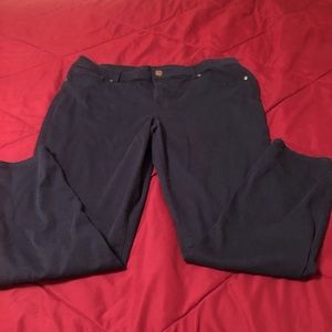 Maurice's Navy Skinny Pant Size Short XL